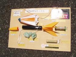 アルファー3モデルロケット組立キットの構成部品