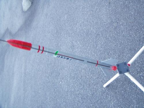 障子紙の巻き芯の自作モデルロケット